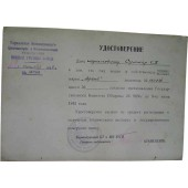 WW2 military certificate