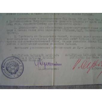WW2 Military Document (Certificate). Espenlaub militaria