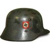 3 rd Reich Double Decal Polizei, Austrian M 16 steel helmet