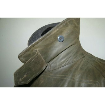 WW2 German rubberized motorcycle coat Kradmantel for Luftwaffe. Espenlaub militaria
