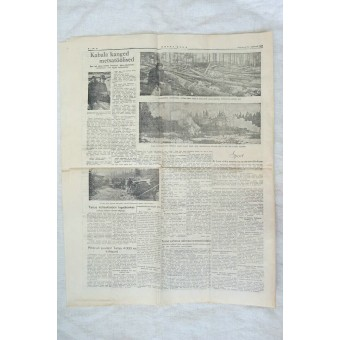 WW2 propaganda newspaper Word of Estonia-Eesti Sõna February, 24 1942.. Espenlaub militaria