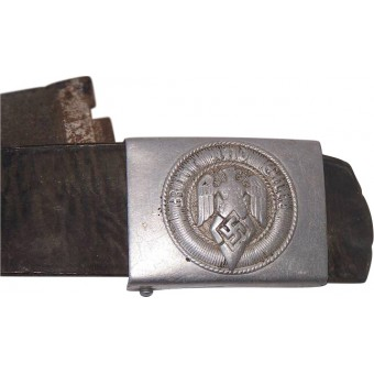 WW2 HJ aluminum buckle with original belt. Espenlaub militaria