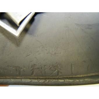 German WW2 ET 62 Double decal WH Heeres steel helmet. Espenlaub militaria