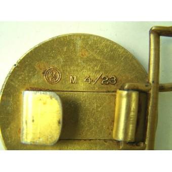 NSDAP leaders aluminum buckle, Marked M 4/23 RZM. Espenlaub militaria