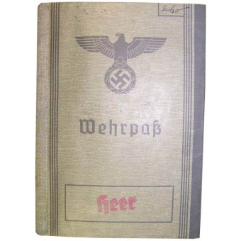 Wehrmacht/ Heer Wehrpass in excellent condition. Espenlaub militaria