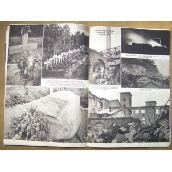 German WW2/Waffen SS Pildileht propaganda magazine, printed in Estland, 1943. Espenlaub militaria