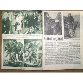 German WW2/Waffen SS propaganda magazine, printed in Estland, 1943. Espenlaub militaria