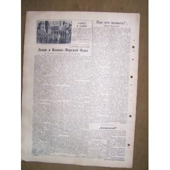 WW2 naval newspaper Baltic Submarine  20 April, 1945!!. Espenlaub militaria