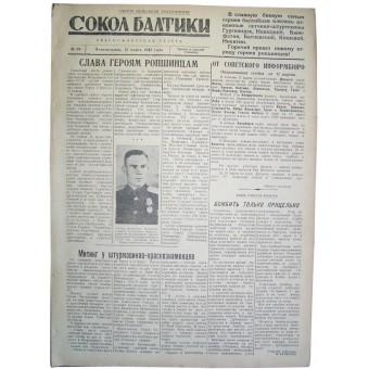WW2 pilots  newspaper Baltic Falcon, 12 March/1945 !. Espenlaub militaria
