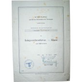KVK 2 award document