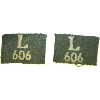 Shoulderboards slides for 606 Infanterie Lehr Regiment. Espenlaub militaria