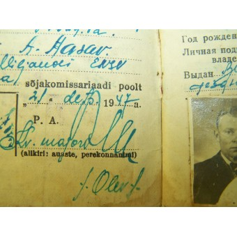 WW2 RKKA soldier ID set dated 1944, belonged to estonian, NKVD writtings.. Espenlaub militaria