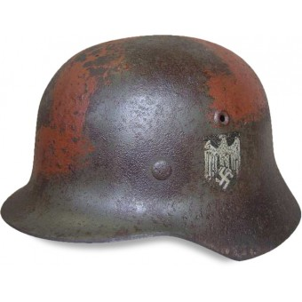 German m 40 Wehrmacht steel helmet with painted swastika. Espenlaub militaria