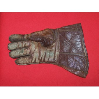 WW2 British or US leather gloves for tankman crew. Espenlaub militaria