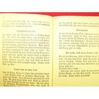 3rd Reich Soldiers evangelisches song book. Espenlaub militaria