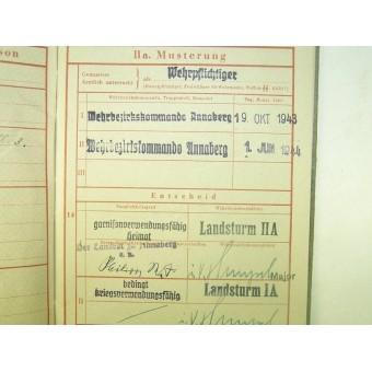 3rd Reich Wehrmacht Wehrpass, WW1 service. Espenlaub militaria