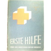 Erste Hilfe. The First Aid book, stamped with SS Geb jag Div Nord