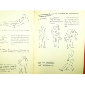 Erste Hilfe. The First Aid book, stamped with SS Geb jag Div Nord. Espenlaub militaria
