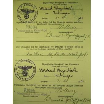Reichs- Sportabzeichen document. Espenlaub militaria