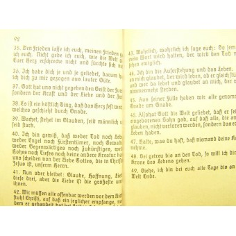 Soldiers evangelisches song book. Espenlaub militaria