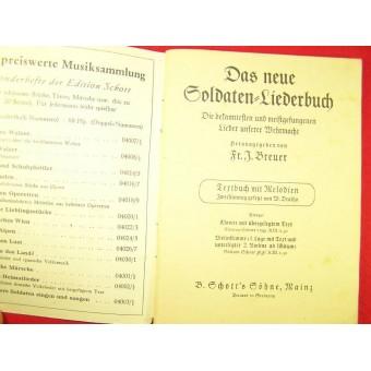 Soldiers military songs book- Green nr 1. Espenlaub militaria