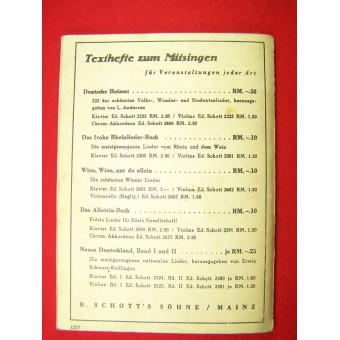 Soldiers military songs book- Green nr 1. Espenlaub militaria