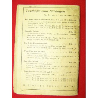 Soldiers military songs book Red nr 2. Espenlaub militaria