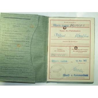 Wehrpass . Service in 1913-18 in Jnfanterie regiment 124. Espenlaub militaria