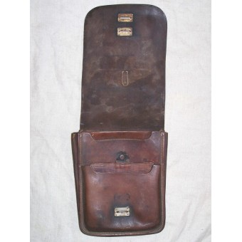 Well worn M 32 leather map case. Espenlaub militaria