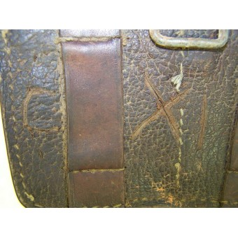 RKKA combat worn leather ammo pouch, 1939 dated!. Espenlaub militaria