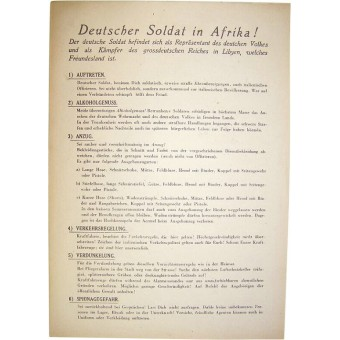 WW2 Soldiers regulations in the Deutsche Afrika Corps.. Espenlaub militaria