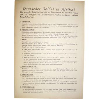 WW2 Soldiers regulations in the Deutsche Afrika Corps.. Espenlaub militaria