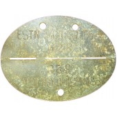 ESTN. SICH. GR. 186 ID disc, Estonian volunteer