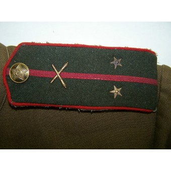 Lend-lease US cloth made M 43 gimnasterka for Lieutenant of anti-tank unit. Espenlaub militaria