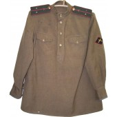 Lend-lease US cloth made M 43 gimnasterka for Lieutenant of anti-tank unit