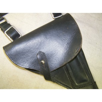 Navy black RKVMF leather holster for TT pistol. Espenlaub militaria