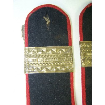 Trench art M 43 shoulder straps for senior sergeant in arty/armored troops. Espenlaub militaria
