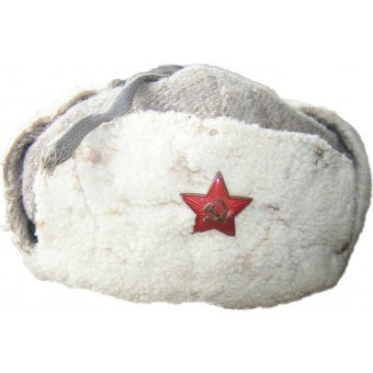 WW2 issue, Red Army sheepskin officers winter hat.. Espenlaub militaria