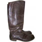 Imperial Russian dark brown leather officer's boots
