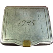 WW2 Trench Art. Cigarette Case made by the soldier. Dated 1943.