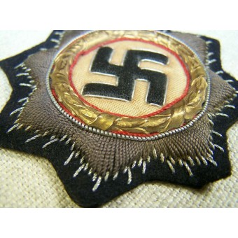 German cross in gold, embroidered version, 2nd type unissued. Espenlaub militaria