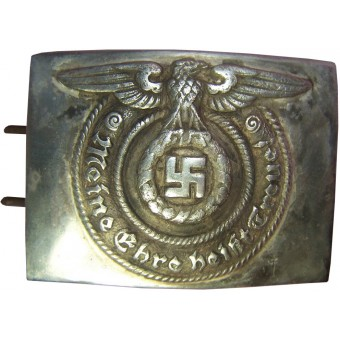 O&C Overhoff early nickel SS belt buckle. Espenlaub militaria