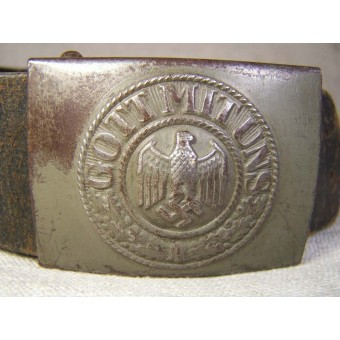 WW2 Wehrmacht belt and buckle, size 95, Dr Franke and Co, 1941. Espenlaub militaria