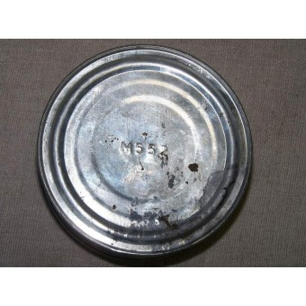 Original pre WW2 Red Army meat ration, stewed beef tin with original content. Espenlaub militaria