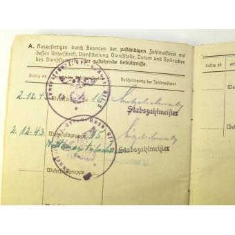 German WW2 Soldbuch. Espenlaub militaria