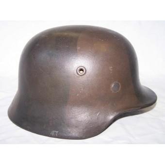 WW2 German camouflaged M 40, ET 64 steel helmet. Espenlaub militaria