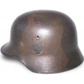 WW2 German camouflaged M 40, ET 64 steel helmet