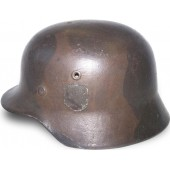 WW2 German camouflaged M 40, ET 64 steel helmet