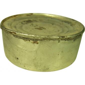 Original pre WW2 Red Army meat ration, liver pate tin. Marked. Espenlaub militaria