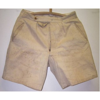 DAK or Southern Russia M 43 combat worn salty tunic and shorts. Espenlaub militaria